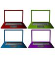 Laptop set vector image vector image