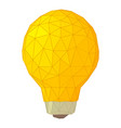 light bulb with triangles icon cartoon style vector image vector image