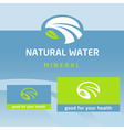 logo label natural product water milk vector image vector image