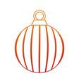 merry christmas ball decorative vector image vector image
