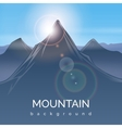 Mountain landscape background with sunbeam vector image vector image