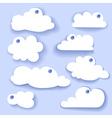 Paper Speech Bubble Cloud sticker vector image vector image