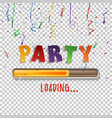 party loading poster template with confetti and vector image vector image