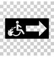 patient exit icon vector image vector image