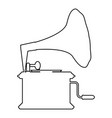 phonograph gramophone vintage turntable for vinyl vector image vector image