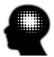 pixeated profile with idea symbol vector image