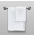 realistic 3d detailed white terry towels vector image vector image