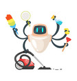 robot assistant domestic cleaner robot vector image vector image