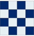 Royal Blue White Chessboard Background vector image