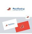 sandals logotype with business card template vector image