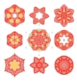 set vintage icons elements with floral design vector image vector image