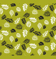 simple flat tropical leaves monochrome pattern vector image