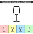 simple outline transparent wine glass icon on vector image