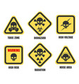 skull signs death notice symbols set vector image vector image