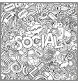 Social hand lettering and doodles elements vector image vector image