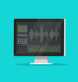 sound or audio recorder or editor software on vector image