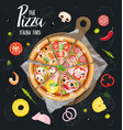 the pizza itallian slices without background vector image vector image