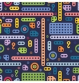 USSR colorful building block pattern vector image vector image