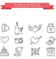 Valentine element with hand draw vector image vector image