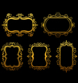 vintage frames and borders set vector image