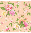 Vintage Peony Flowers Background vector image