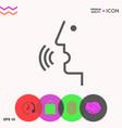 voice control person talking - icon vector image vector image