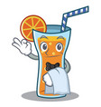waiter cocktail character cartoon style vector image