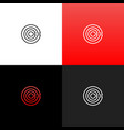 lines c in circle logo linear logo the letter c vector image