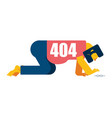 404 error page not found man all fours search vector image