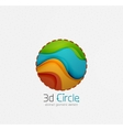 Abstract brand logo design on white Circle with vector image vector image