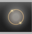 abstract luxury golden ring on transparent vector image