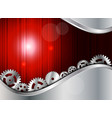 abstract metal background with gear vector image
