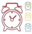 Alarm clock Set of line icons vector image vector image