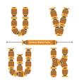 alphabet typography font cartoon robot style vector image vector image