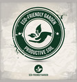 alternative eco friendly garden stamp vector image
