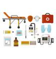 ambulance icons medicine health emergency hospital vector image
