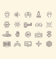 ar and vr line icon set vector image