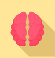 artificial brain icon flat style vector image