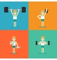 Athletic man doing exercise set vector image vector image