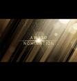award nomination ceremony luxury background vector image vector image