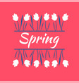 beautiful white spring flowers spring mood spring vector image