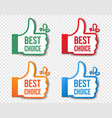 best choice stickers isolated transparent vector image