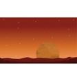 Big planet on space landscape vector image vector image