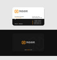 black business card yellow letter n solar energy vector image vector image