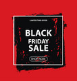 black friday sale layout discount banner vector image
