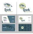 Business card with woman eye logo template vector image