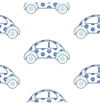 car cute pattern vector image vector image