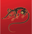chinese horoscope year rat vector image vector image