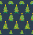 christmas hat seamless pattern vector image vector image
