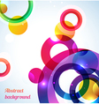 Colorful rings background vector image vector image
